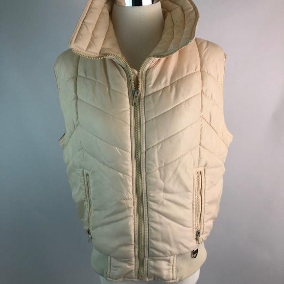 Skyr Jackets & Blazers - Skyr L Large Womens Vest Puffer Cream Zipper
